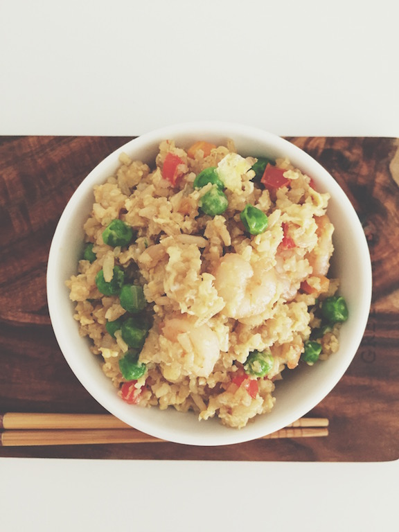 Brownn rice and veggeis packed with loads of fiber, vitamines and taste!